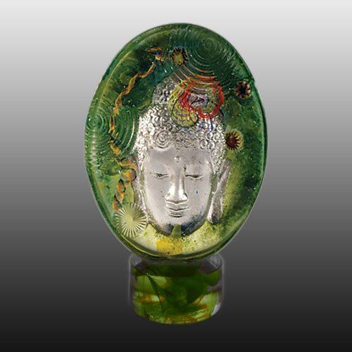 Buddha-Green-Glass-base